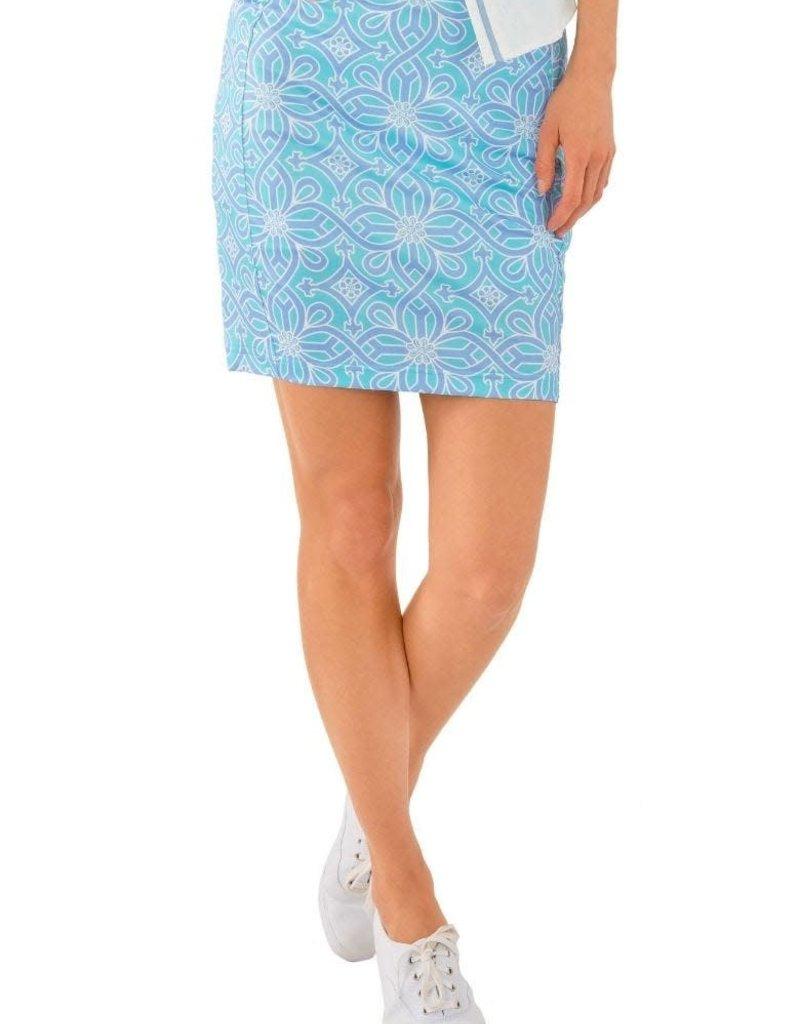 Gretchen Scott Designs Jersey Skippy Skort - Piazza - Turquoise & Periwinkle - Small