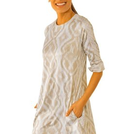 Gretchen Scott Designs Jersey Swinger Kitt Ikat Dress - Khaki - Medium