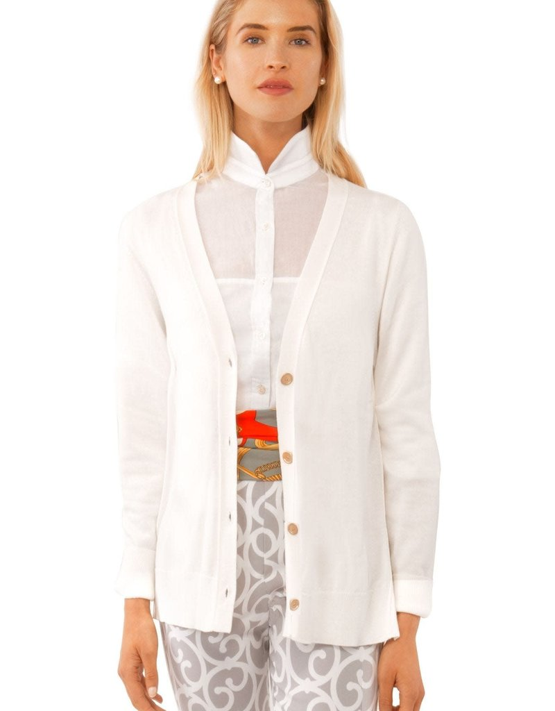 Gretchen Scott Designs Mr. Rogers Sweater - White - Medium