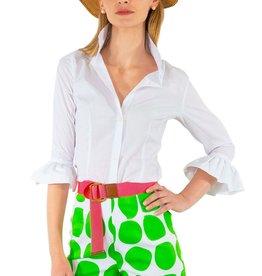 Gretchen Scott Designs Priss Blouse - White - Medium