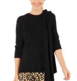 Gretchen Scott Designs Sneak-A-Peek Sweater - Black - Shrimp