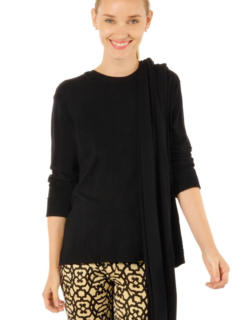 Gretchen Scott Designs Sneak-A-Peek Sweater - Black - X-Large