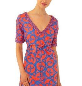 Gretchen Scott Designs Surfs Up Dress - Heavens Gate - Coral - Small