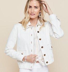 Spartina 449 Adler Denim Jacket Pearl White - Medium