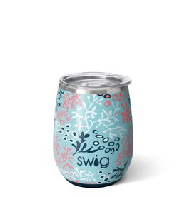 Swig Swig 14oz Stemless Wine Cup - Coral Me Crazy
