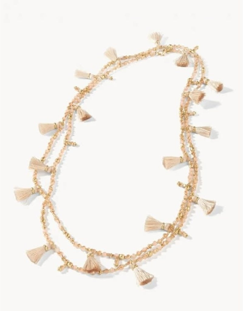 """Spartina 449 Bayberry Layering Necklace 48"""" Taupe"""