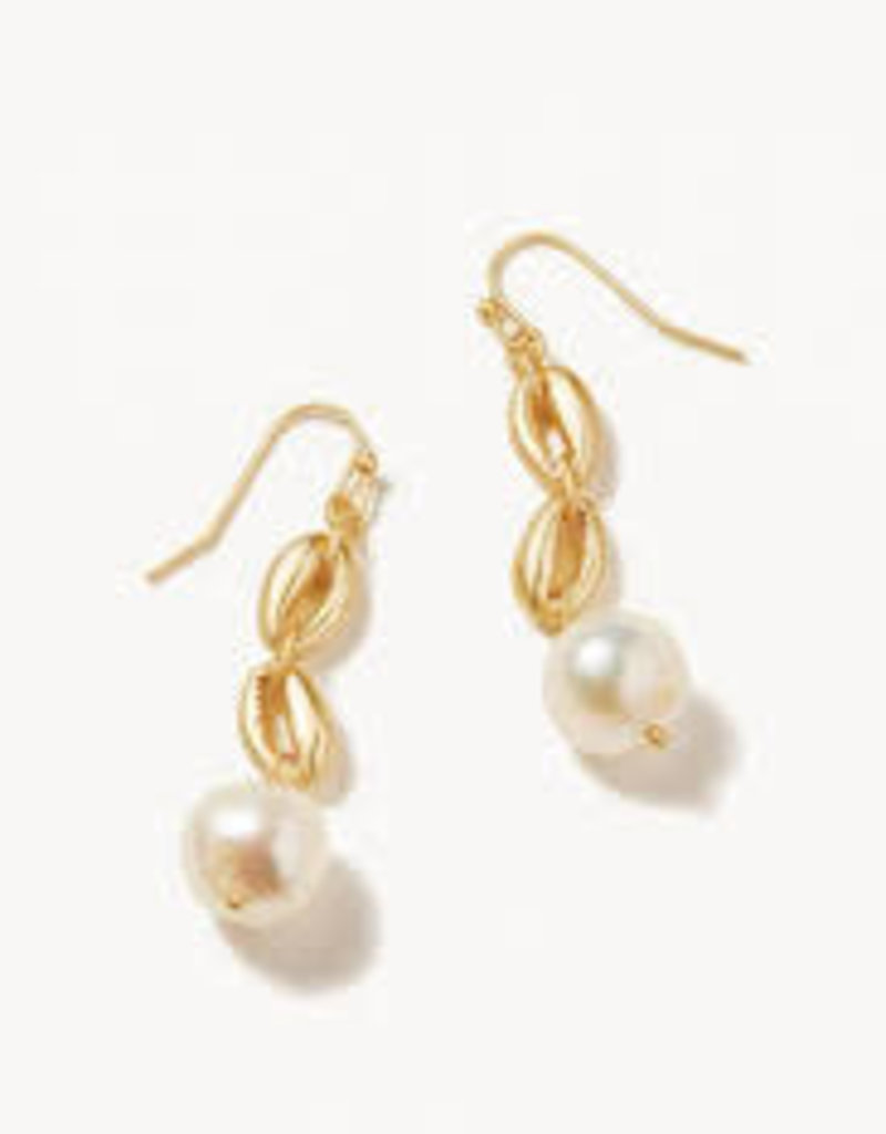 Spartina 449 Cowrie Linear Earrings Pearl