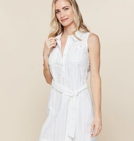 Spartina 449, LLC Eliza Eyelet Shirt Dress Pearl White - Garden House - Large - SALE!