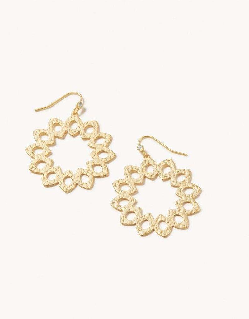 Spartina 449, LLC Garden House Round Earrings Gold