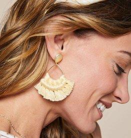 Spartina 449 Macrame Earrings Yellow