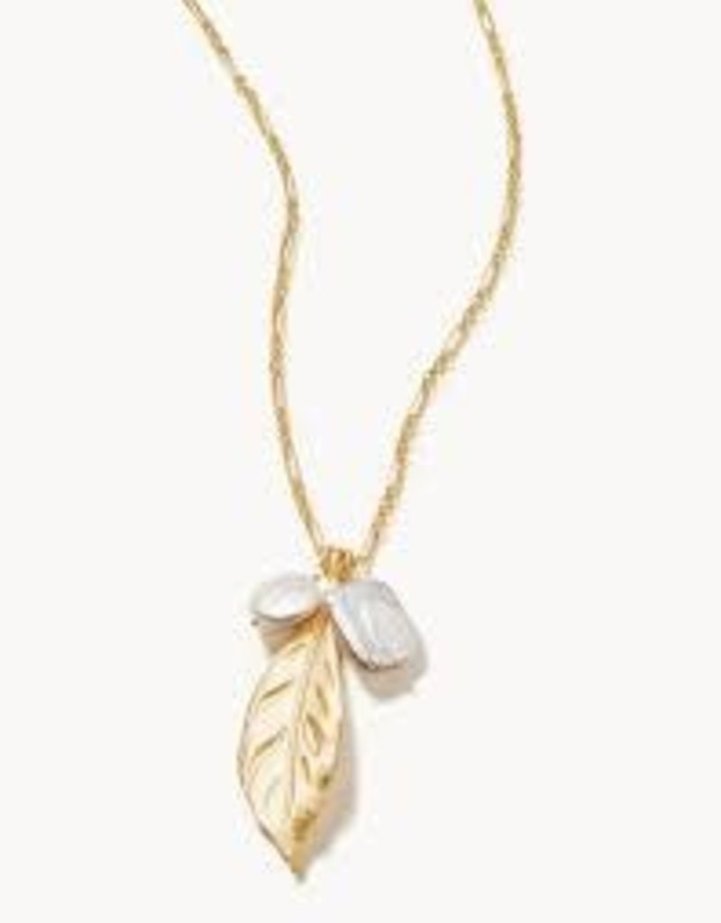 "Spartina 449, LLC Magnolia Leaf Necklace 32"" Pearl"
