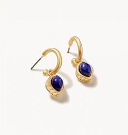 Spartina 449 Naia Drop Hoop Earrings Lapis
