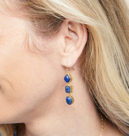 Spartina 449 Naia Linear Drop Earrings Lapis