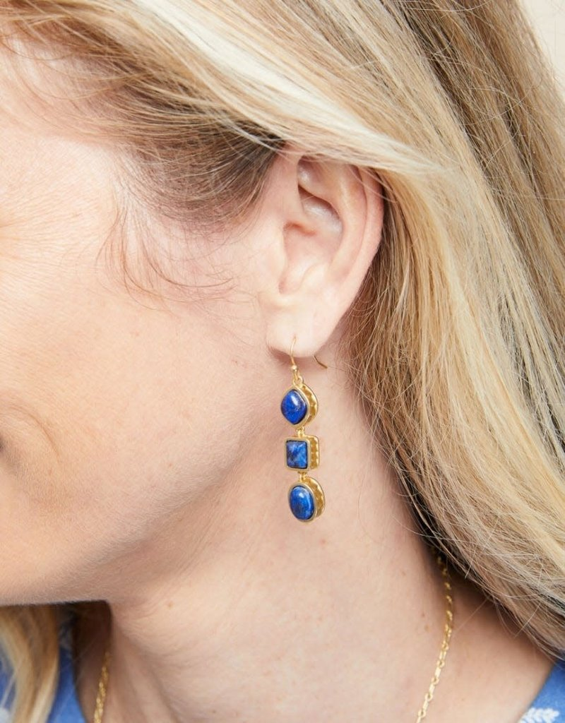 Spartina 449, LLC Naia Linear Drop Earrings Lapis