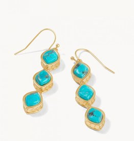 Spartina 449 Naia Linear Drop Earrings Turquoise