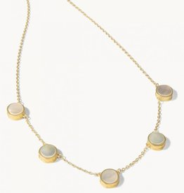 """Spartina 449 Naia Station Necklace 16"""" Pearlescent"""