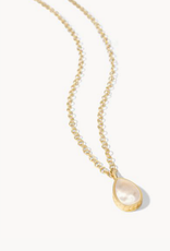 """Spartina 449 Naia Teardrop Necklace 16"""" Gold / Mother of Pearl"""