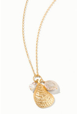 """Spartina 449 Oyster Necklace 32"""" Pearl"""