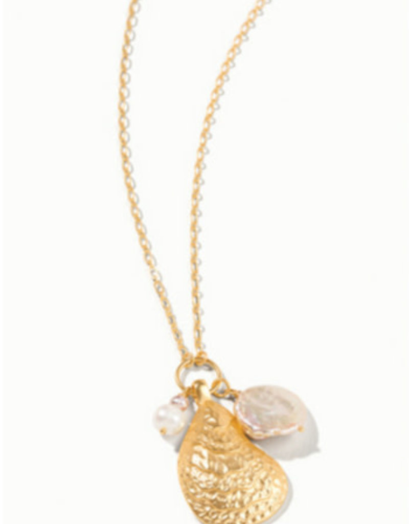 """Spartina 449, LLC Oyster Necklace 32"""" Pearl"""