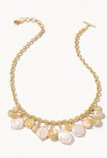 Spartina 449 Pearl Charm Toggle Necklace