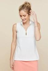 Spartina 449 Serena Half-zip Top Pearl White - Large