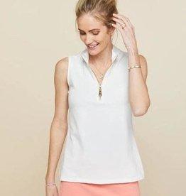 Spartina 449, LLC Serena Half-zip Top Pearl White - Medium