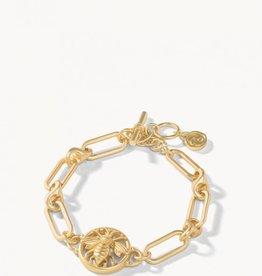 Spartina 449 Sticky Bee Toggle Bracelet Gold