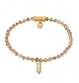 Spartina 449 Twinkle Stretch Bracelet Rose Sparkle Gem