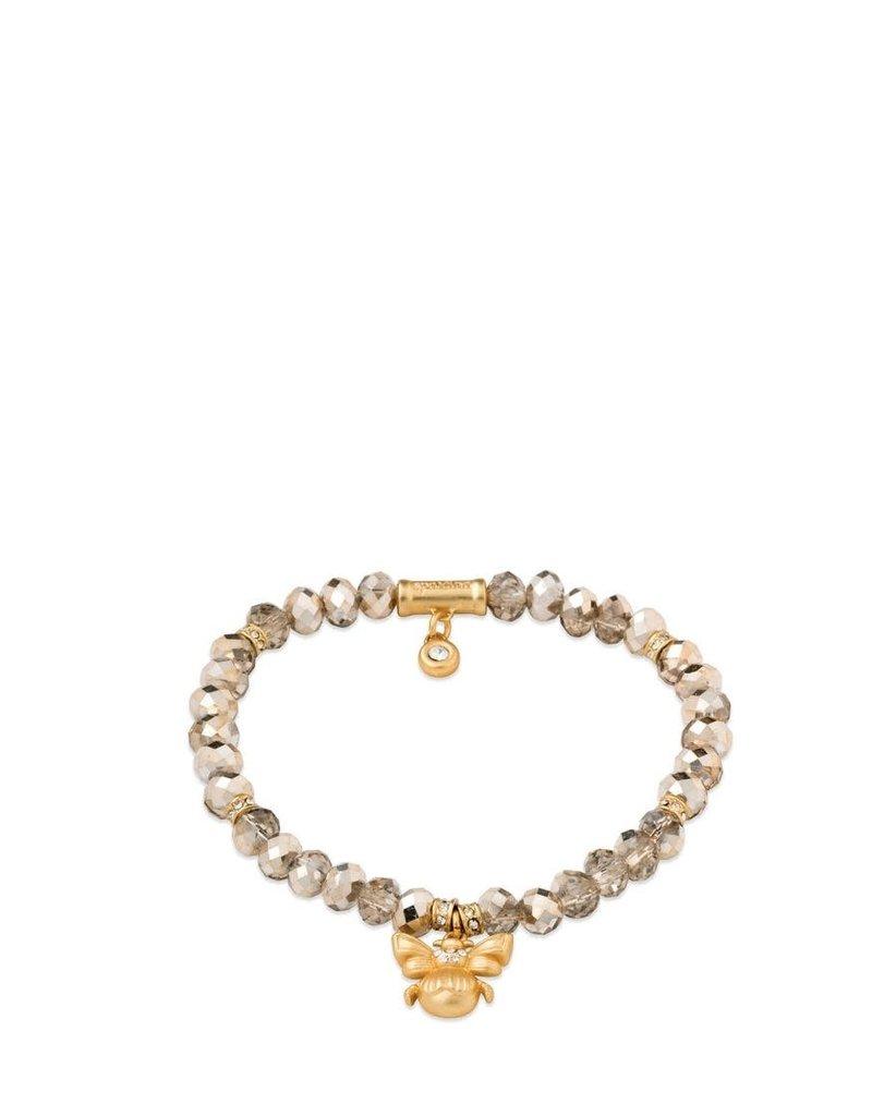 Spartina 449, LLC Stretch Bracelet 6mm Rose Sparkle/Bee