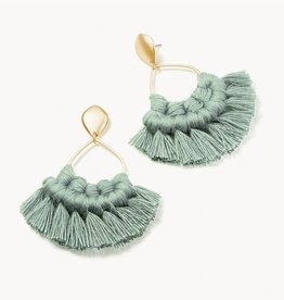 Spartina 449 Macrame Earrings Blue