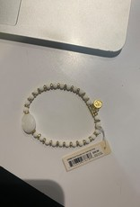Spartina 449 Stretch Bracelet 4mm Gold Soft White