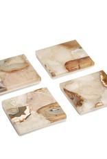 Agate Coasters w/Marble - Single
