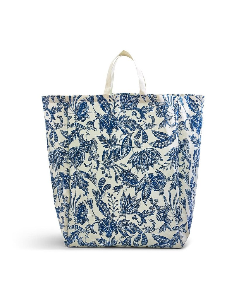 Blue Batik Oversized Tote Bag
