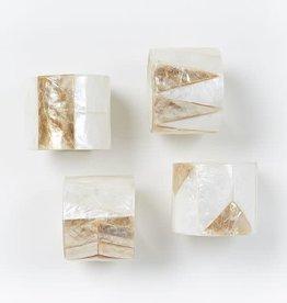 Capiz Shell Napkin Rings - Set of 4