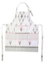 Vietri Bohemian Linens Gray/Pink Apron