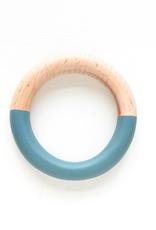 Wood & Resin Bangle - Teal