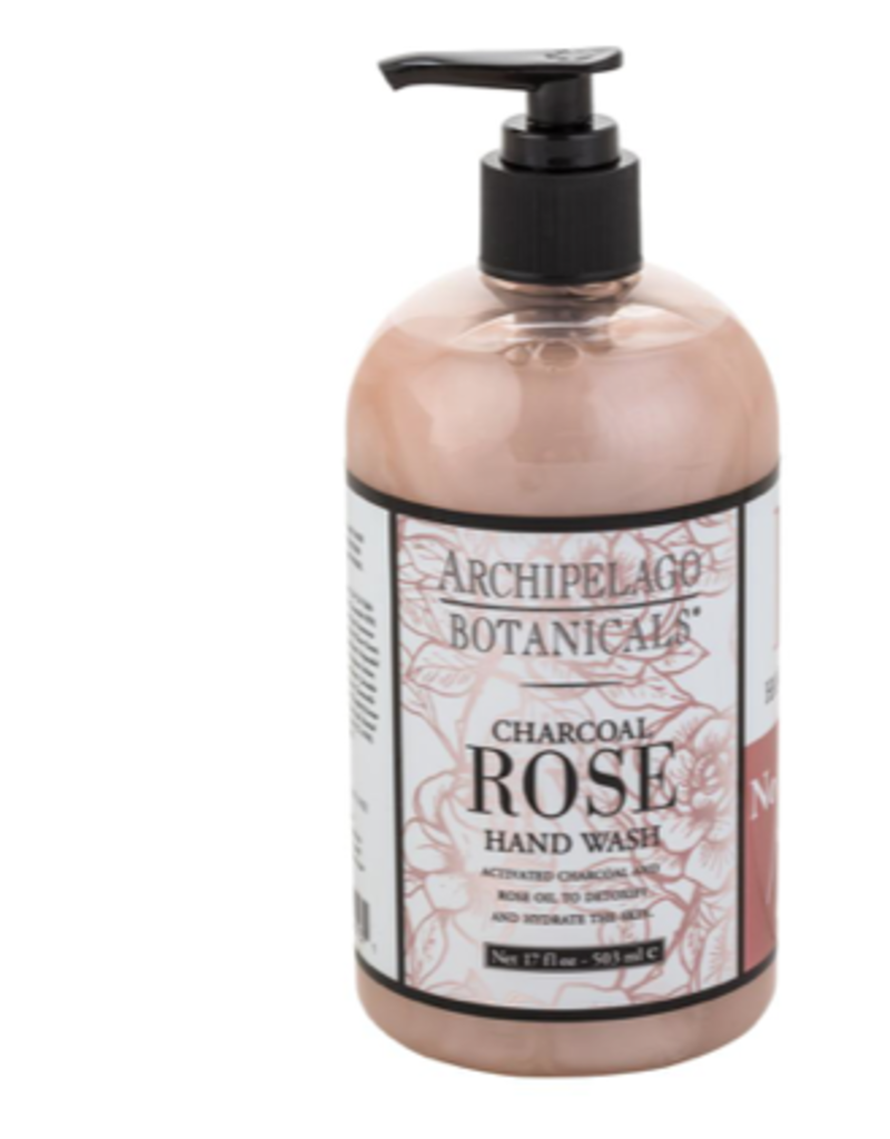 Archipelago Botanicals Charcoal Rose Hand Wash - 17 oz
