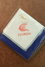 Linen Marine Blue Florida Gator Cocktail Napkins - 24 Per Package