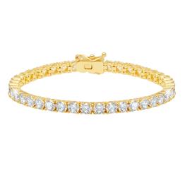 """Crislu Classic Large Round Brilliant Tennis Bracelet - 7.5"""""""