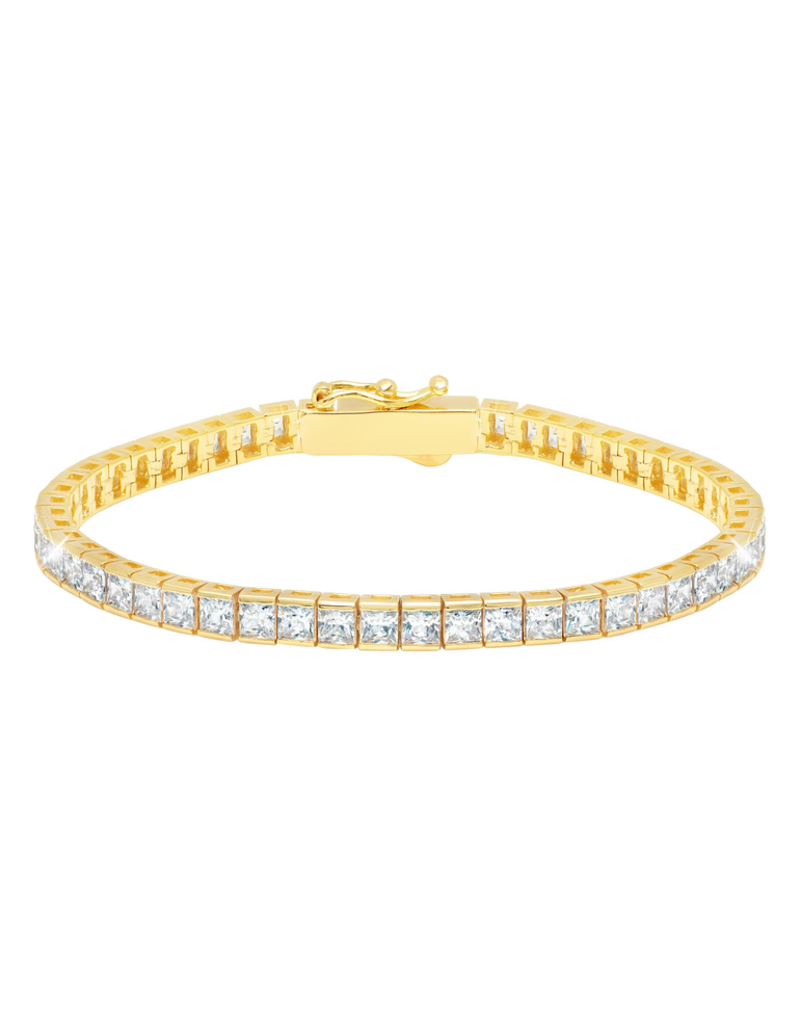 "Crislu Classic Medium Princess Tennis Bracelet - 7.5"""
