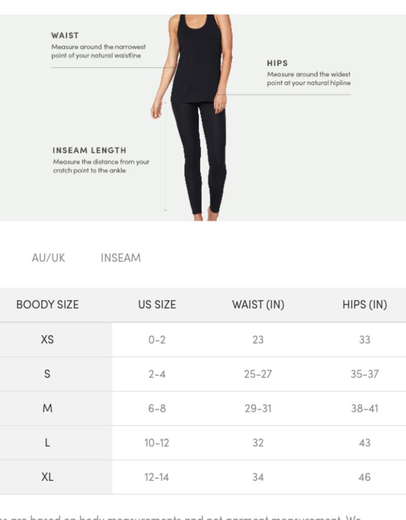 Boody Eco Wear 3/4 Legging - Black - Small