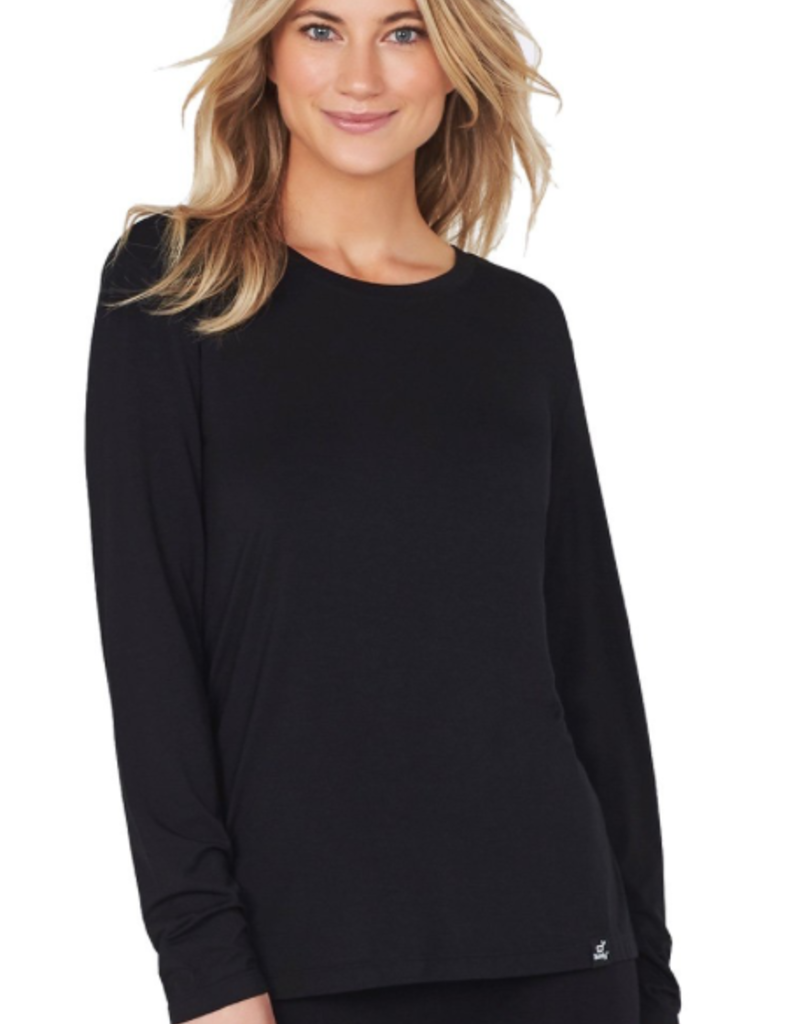 Boody Eco Wear Women's Long Sleeve T-Shirt - Black - Large