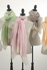 Striped Scarf - Lime