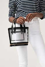 Neely & Chloe Packable Bucket Bag - Black Patent Leather and Clear PVC