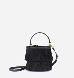 Neely & Chloe Horse Hair Bucket Bag - Black