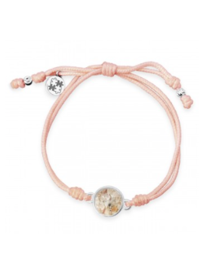 Dune Jewelry Touch the World Peach Cord Bracelet - Shells from Florida