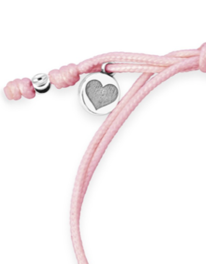 Dune Jewelry Touch the World Pink Cord Bracelet - Shells from Florida
