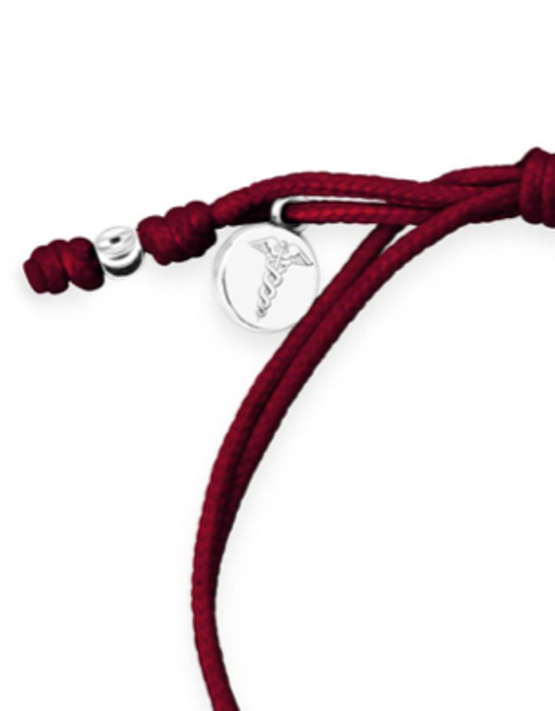 Dune Jewelry Touch the World Maroon Cord Bracelet - Shells from Florida