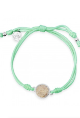 Dune Jewelry Touch the World Mint Green Cord Bracelet - Shells from Florida