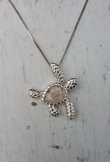 Dune Jewelry Sea Turtle Sterling Silver Necklace - Large - Shells from Florida